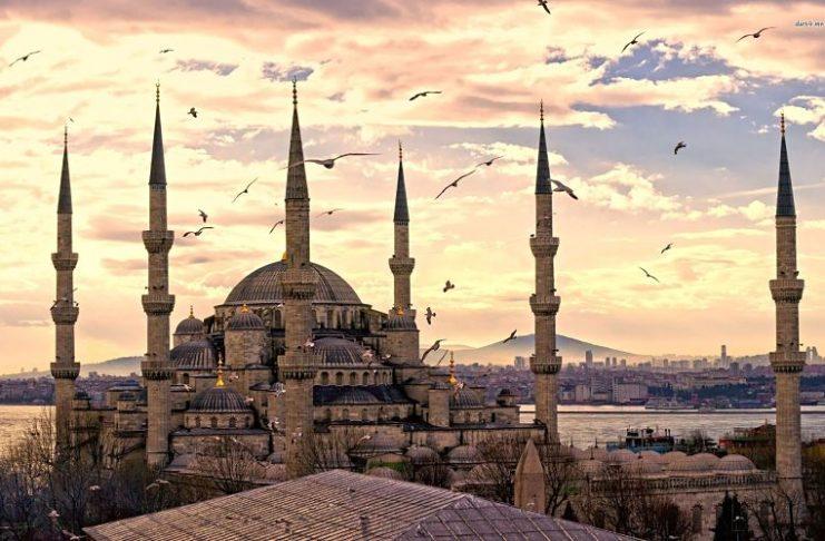 Vista su Istanbul dal Corno d'Oro