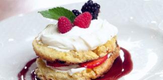 sformato di crema e frutta