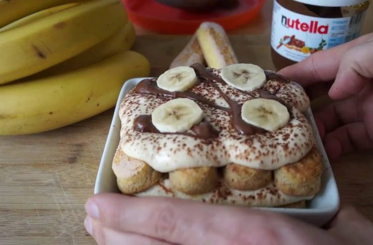 tiramisù banane e nutella
