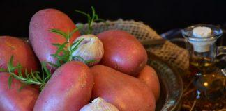 patate rosse al forno con pancetta