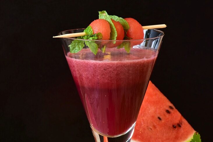 Cocktail all'anguria, fresco ed i stagione