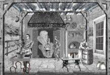Pierre De Lune dans sa cuisine. Ricostruzione immaginaria di Fabrizio Mangoni