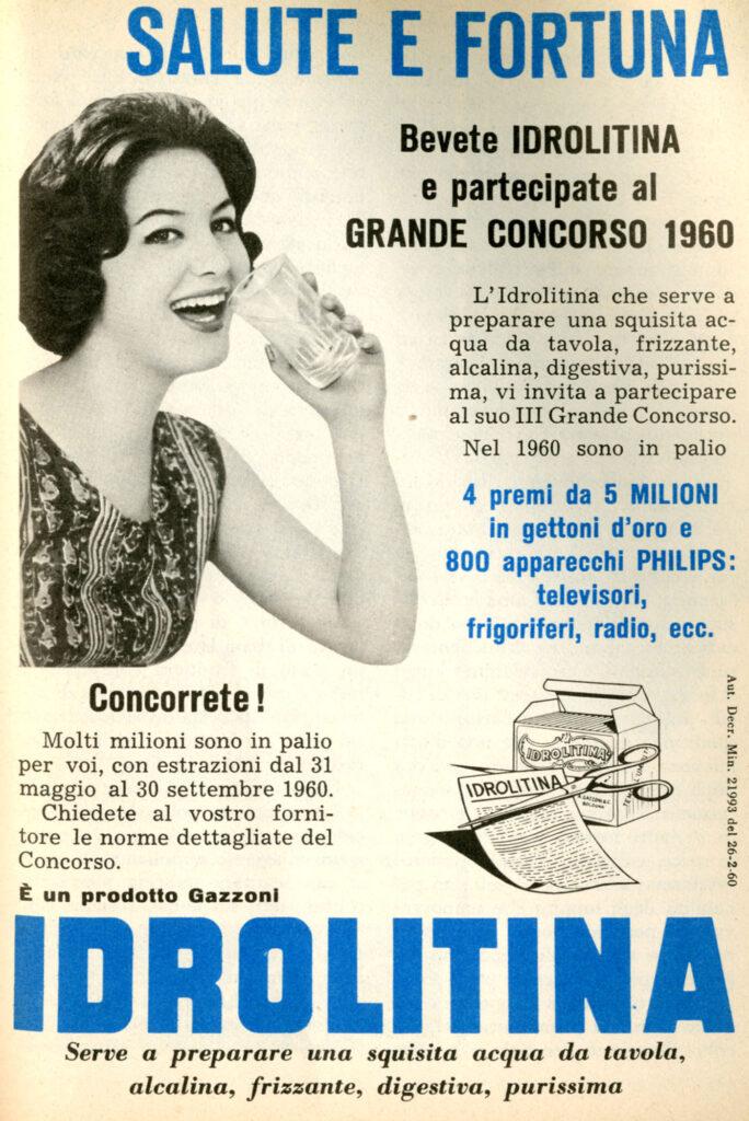 1960 - IDROLITINA - salute e fortuna