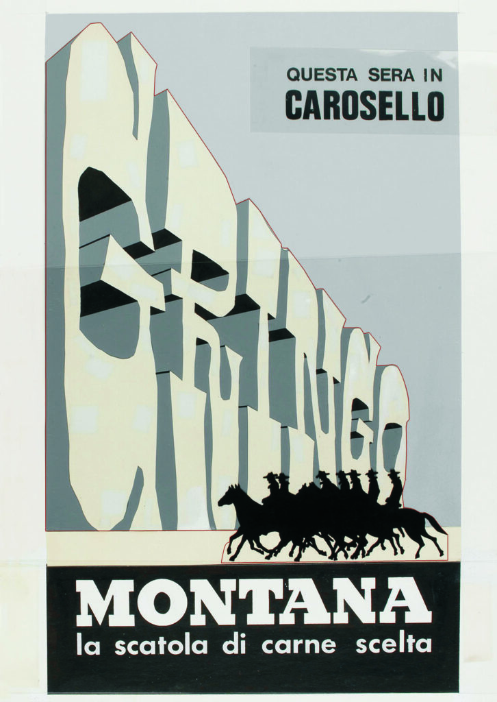 1972-73-MONTANA Bozzetto 2 GRINGO