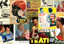 Collage Pubblicità 1950 al 1970