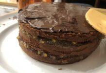 Torta al cioccolato con marmellata di arance amare (senza burro)