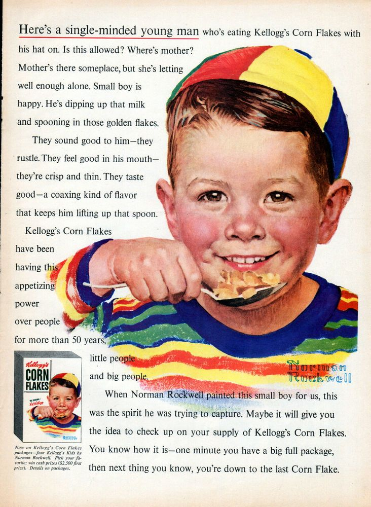 1954 Kelloggs Corn Flakes cereal