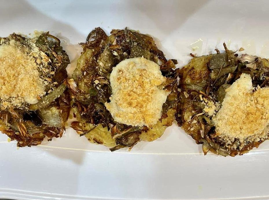 Rosti di patate e carciofi